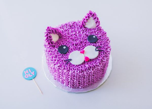 PURPLE CAT CAKE FOR OLYMPIA!