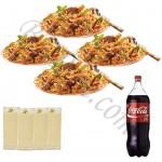 Nawabi voj kachchi biryani with borhani and 2 liter coke