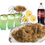 Star kachchi biryani with borhani, firney, coke and salads