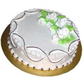 Swiss – 2.2 Pounds Vanilla Round Shape Cake