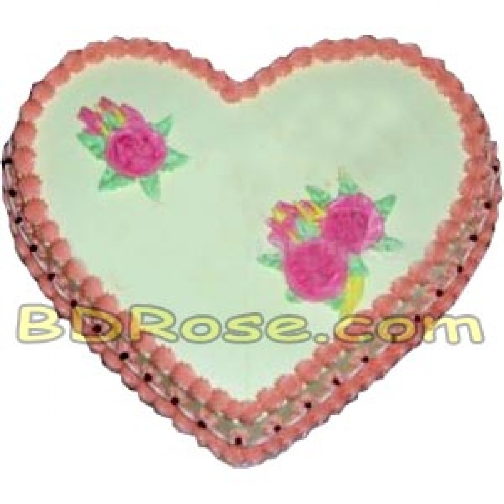 Yummy Yummy – 3.3 Pounds Vanilla Heart Shape Cake