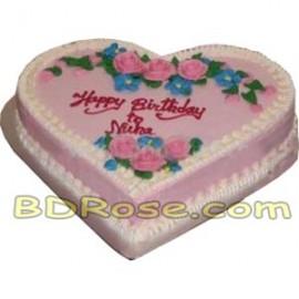 Yummy Yummy – 3.3 Pounds Vanilla Heart Shape Cake