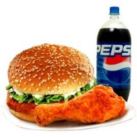 Zinger Burger and Chicken