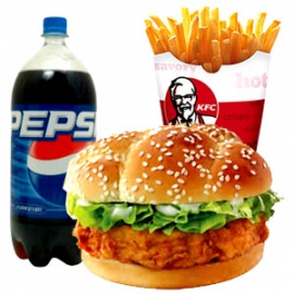 Zinger Burger and Fries