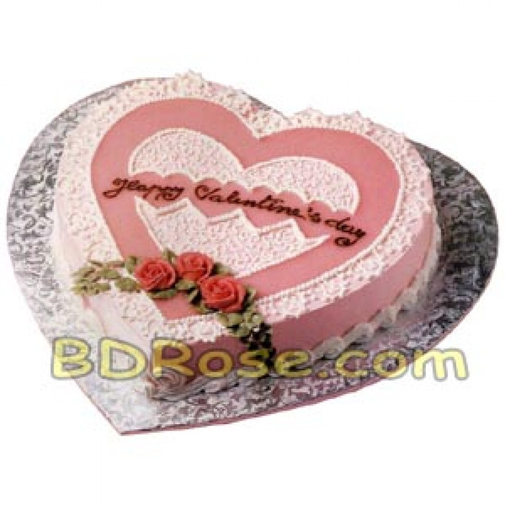 Hot Cake – 4.4 Pounds Vanilla Heart Cake