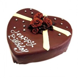 Swiss – 4.4 Pounds Chocolate Heart Shape Cake