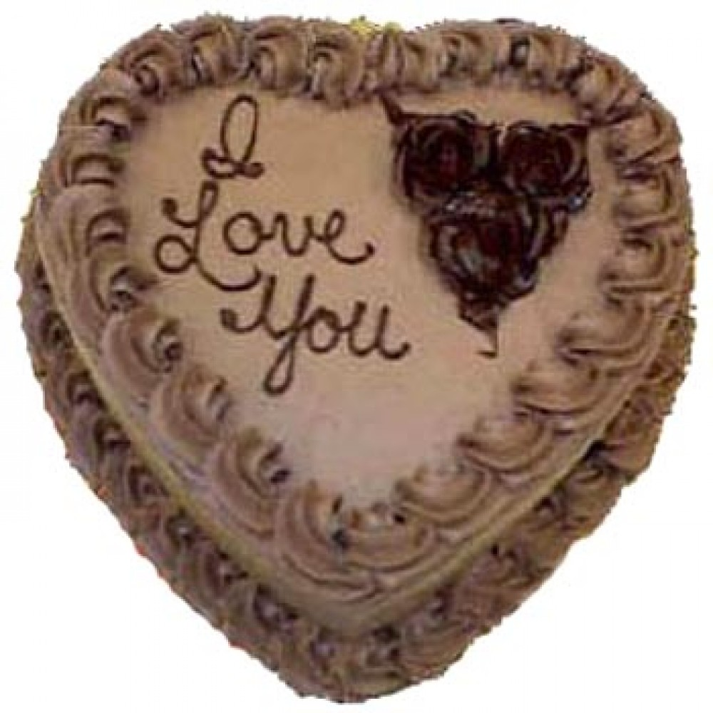 Swiss – 3.3 Pounds Chocolate Heart Shape Cake