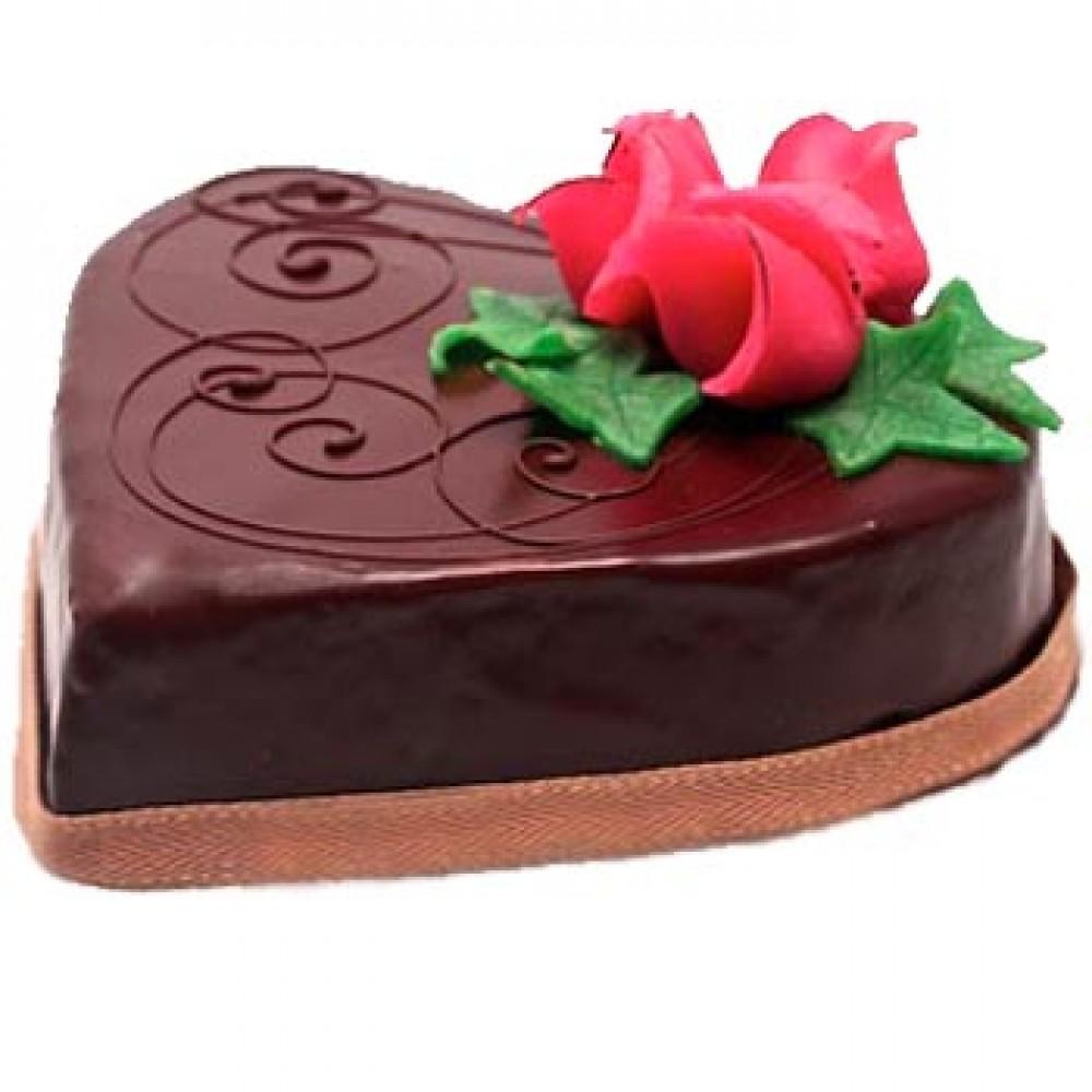 Swiss – 2.2 Pounds Chocolate Heart Shape Cake