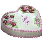 Swiss – 3.3 Pounds Vanilla Heart Shape Cake