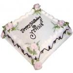 Swiss – 2.2 Pounds Vanilla Square Shape Cake