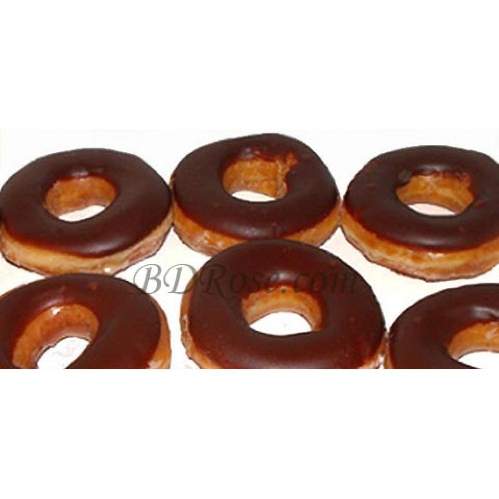 6pcs Chocolate Iced Glazed Doughnut
