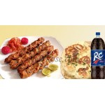 Mutton Botty Kabab W/ Naan bread and RC Cola