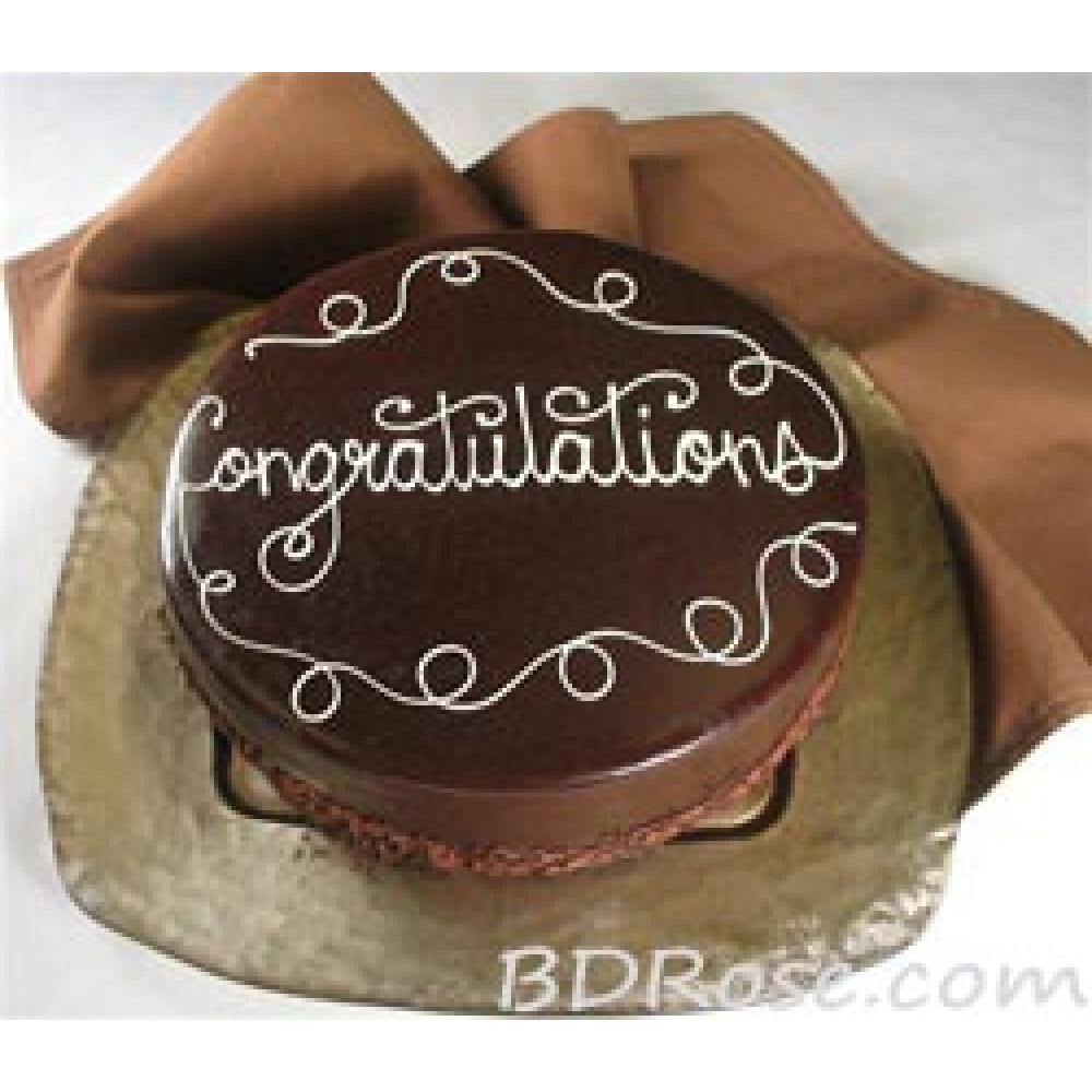 Congratulation Chocolate Cake