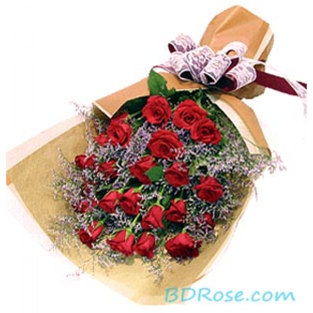 Deep Red Roses Bouquet