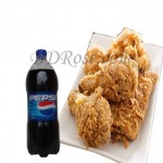 9 Pcs Fried Chicken and Pepsi