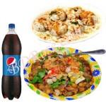 Doi Fuchka with Chotpoti and Pepsi