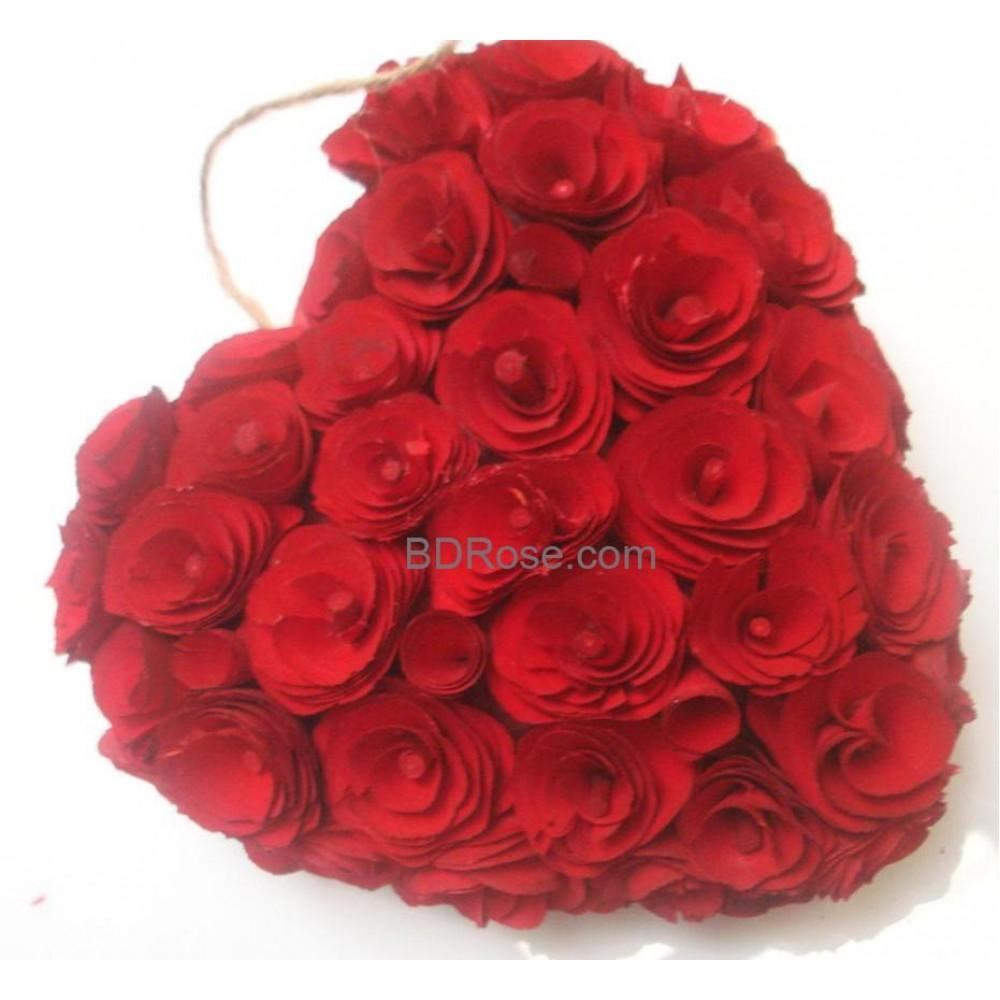 28 heart shape roses