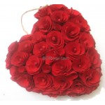 28 heart shape roses