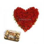 ROSES SUPREME HEART& FERRERO ROCHER