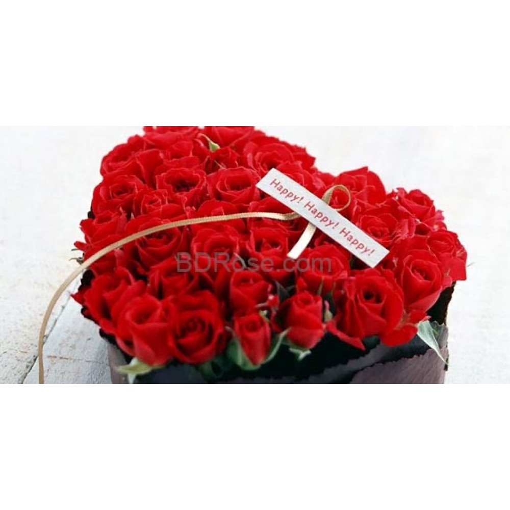 50 Heart Roses