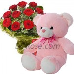 Flower Bouquet W/ Teddy Bear