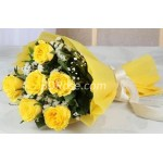 Imported half dozen yellow Rose in Bouquet