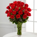 2 dozen Imported Red Roses in a Vase