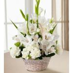 Mixed White Flower Basket