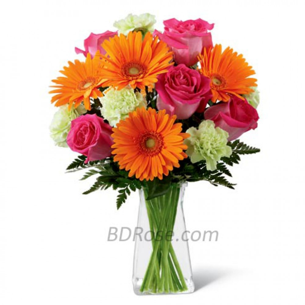 Mixed flowers in a Vase