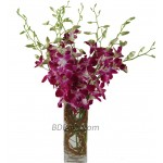 Purple Orchids in a Vase