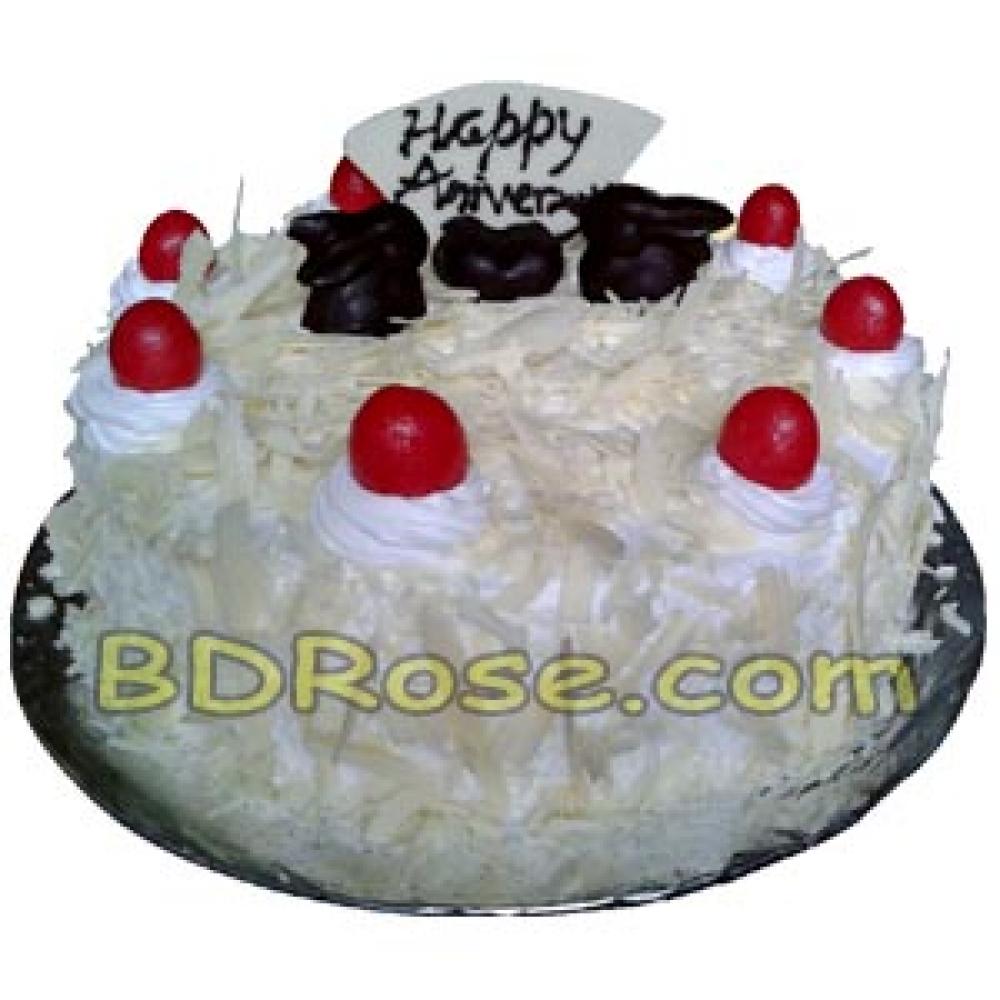 Mr. Baker – 2.2 Pounds White Forest Round Cake