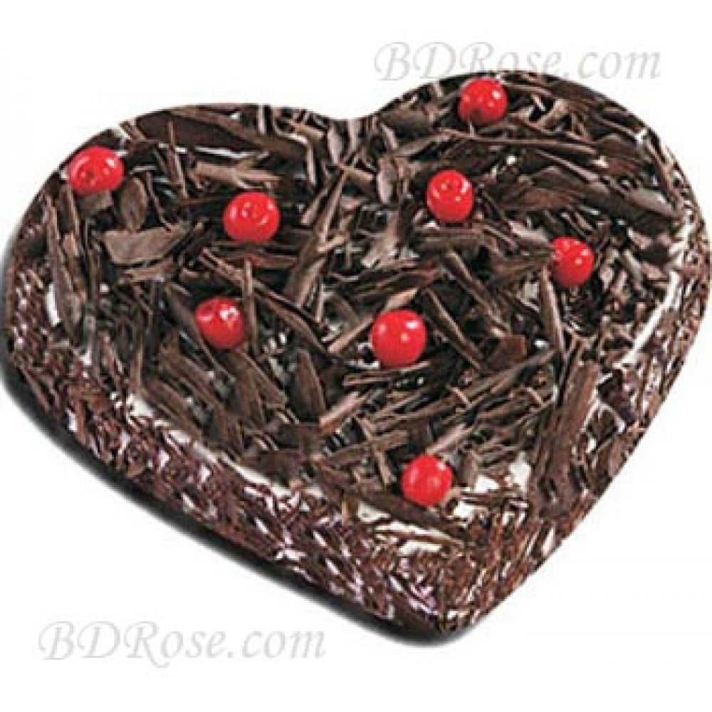 Black Forest Heart Cake(2.2 Pounds)
