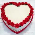 Vanilla Heart Cake (3.3 Pounds)