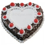 Skylark-Black Forest heart shape Cake(2.2 pounds)