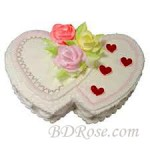 Skylark-Vanilla Double Heart Cake(6.6 Pounds)