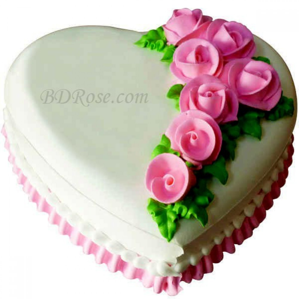 Skylark-Vanilla Heart Cake(4.4 pounds)