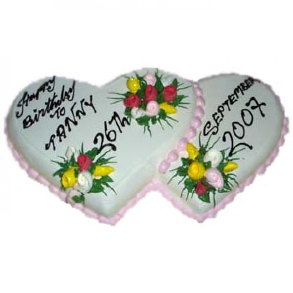 Cooper's – 8.8 Pounds Vanilla Double Heart Shape Cake