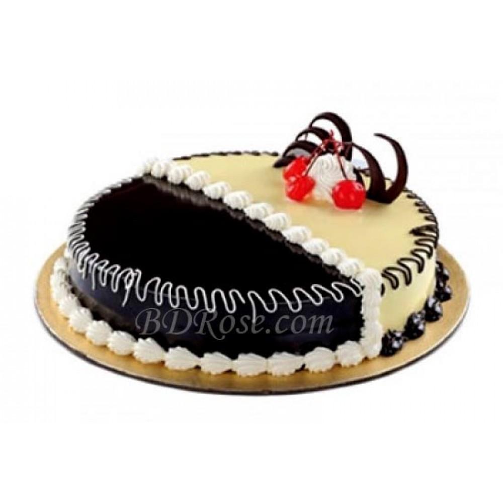 Chocolate & Vanilla Mix Cake( 2.2 pounds)