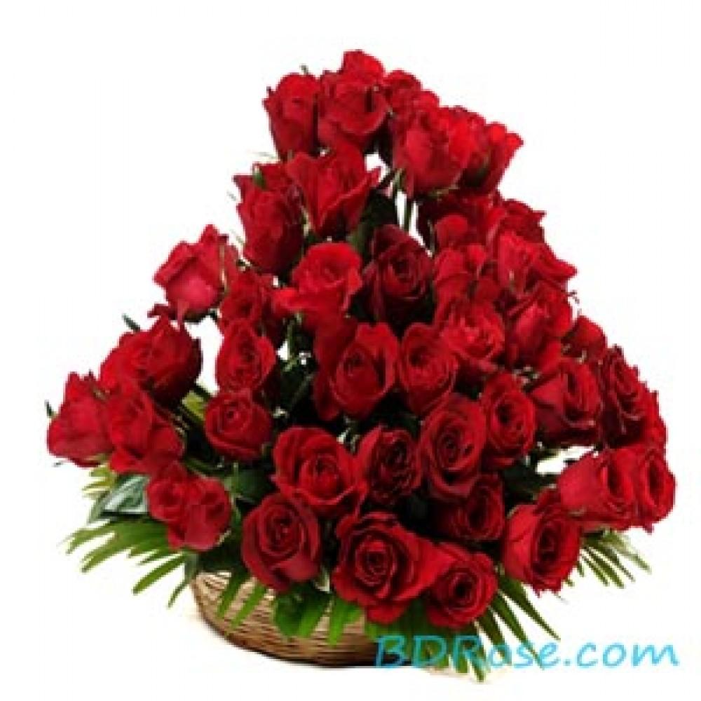 Charming Roses Basket