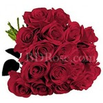 18 pcs red roses in bouquet