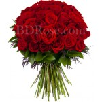 60 pcs red roses in bouquet