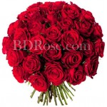 40 pcs red roses in bouquet