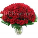 60 pcs red roses in vase